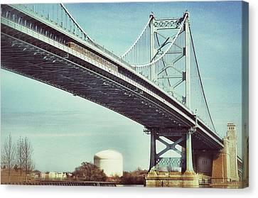 Ben Franklin Bridge Canvas Print by Scott Wyatt