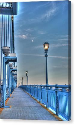Ben Franklin Bridge Walkway Canvas Print