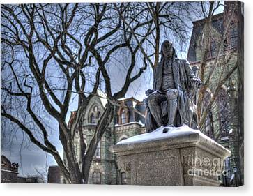 Ben Franklin College Hall - Upenn Canvas Print by Mark Ayzenberg