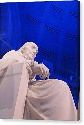 Ben Franklin In Blue II Canvas Print by Richard Reeve
