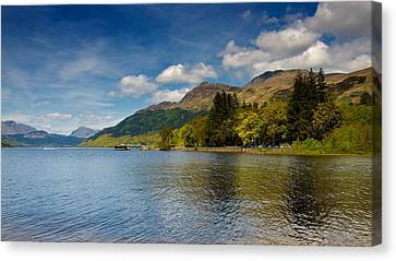 Canvas Print featuring the photograph Ben Lomond by Stephen Taylor