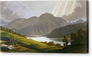 Sun Rays Canvas Print - Ben Nevis by George Fennel Robson