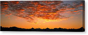 Ben Ohau Mtn Range S Canterbury New Canvas Print by Panoramic Images