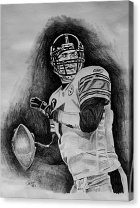 Steelers Canvas Print - Ben Roethlisberger by Jeremy Moore
