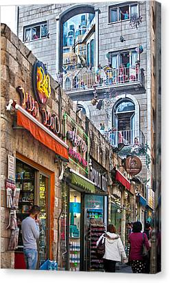 Ben Yehuda Mural Canvas Print by Adam  Ingalls
