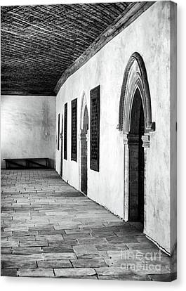 Bench At The End Of The Hall Canvas Print