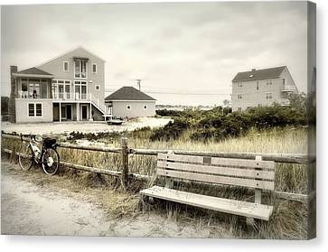 Bench'n Bike Canvas Print by Diana Angstadt