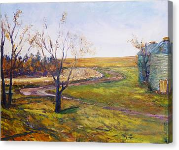 Bend In The Driveway Canvas Print by Helen Campbell