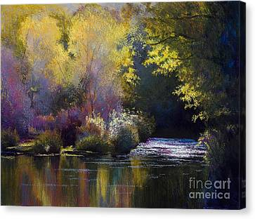 Bending With The River Canvas Print by Vicky Russell