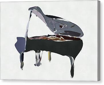 Bendy Piano Canvas Print by David Ridley