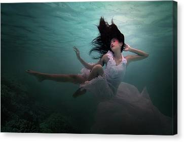 Beneath The Sea Canvas Print by Martha Suherman