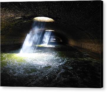 Beneath The Streets Of Paris Canvas Print by David Kovac