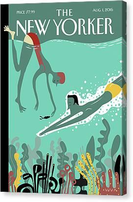 Fish Underwater Canvas Print - Beneath The Waves by Frank Viva