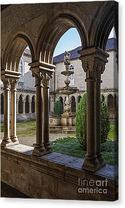 Benedictine Gothic Cloister Canvas Print by Jose Elias - Sofia Pereira
