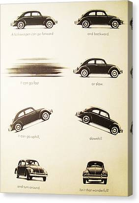 Beetle Canvas Print - Benefits Of A Volkwagen by Georgia Fowler