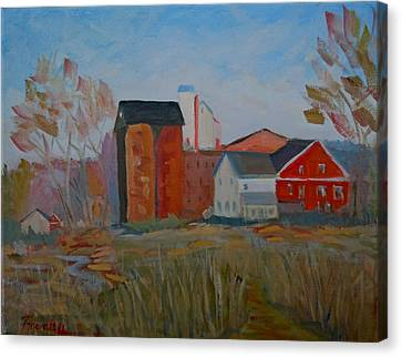 Feed Mill Canvas Print - Benfield's Mill by Francine Frank