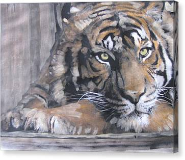 Canvas Print featuring the painting Bengal Tiger by Vikram Singh