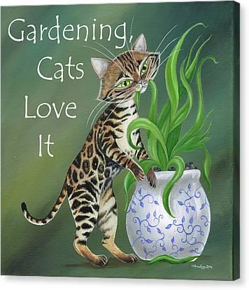Bengal's Love Gardening Canvas Print
