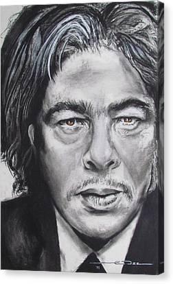 Benicio Del Toro Canvas Print