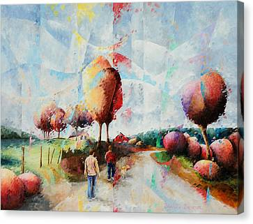 Benja Nico Et Leo Canvas Print by Beatrice BEDEUR