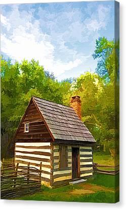 Canvas Print featuring the photograph Benjamin Banneker Cabin by Dana Sohr