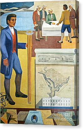 Benjamin Banneker, Us Geographer Canvas Print by The George F. Landegger Collection Of District Of Columbia Photographs In Carol M. Highsmith's America