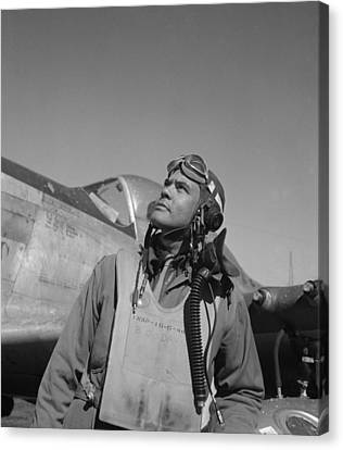 Benjamin Davis - Ww2 Tuskegee Airmen Canvas Print by War Is Hell Store
