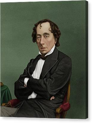 Benjamin Disraeli Canvas Print by Maria Platt-evans