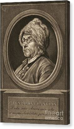Benjamin Franklin 1780 Canvas Print by Padre Art
