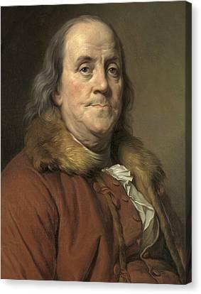 Benjamin Franklin, American Statesman Canvas Print by Metropolitan Museum of Art