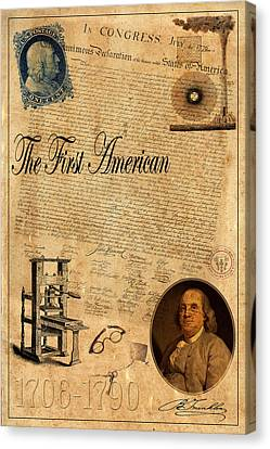 Benjamin Franklin Canvas Print by Andrew Fare