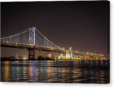 Benjamin Franklin Bridge Canvas Print by Alexander Mendoza