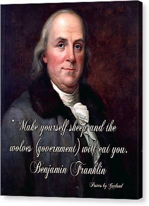 Benjamin Franklin On Liberty Canvas Print