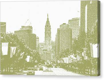 Benjamin Franklin Parkway - Philadelphia Pa Canvas Print