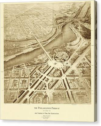 Benjamin Franklin Parkway Plans Canvas Print