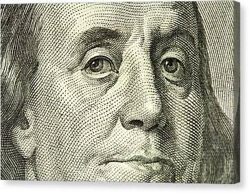 Benjamin Franklin Portrait Canvas Print by Samuel Kessler