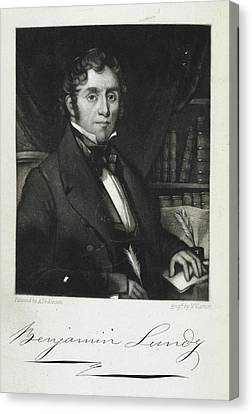 Quaker Canvas Print - Benjamin Lundy by British Library