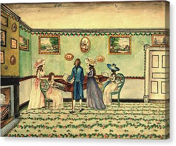Benjamin Thompson, Harpsichord Recital At Count Rumfords Canvas Print by Litz Collection