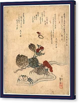 Benkeigani To Tsubaki Canvas Print by Taito, Katsushika Ii (hokusen) (fl.1820-50), Japanese