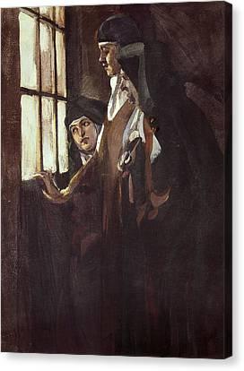 Benlliure Ortiz, Jos� 1884-1916. Nuns Canvas Print by Everett