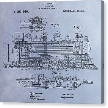 Bennett Locomotive Patent Canvas Print by Dan Sproul