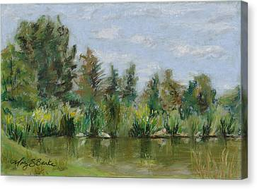 Benson Sculpture Park Canvas Print by Mary Benke