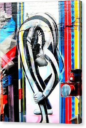 Bent Over Backward  Canvas Print