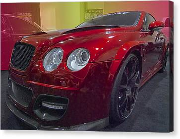 Automobile Canvas Print - Bentley In Red by Paul Barkevich