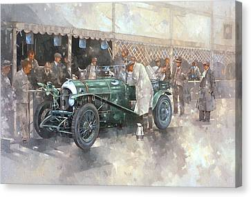 Bentley Old Number 7 Canvas Print by Peter Miller
