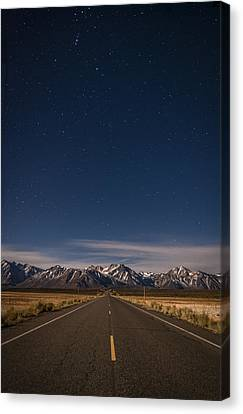 Night-scape Canvas Print - Benton Crossing Rd. by Cat Connor