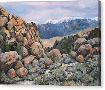 Canvas Print featuring the painting Benton by Donna Tucker