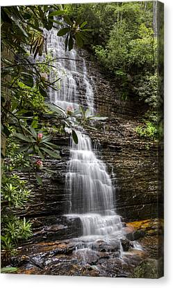 Benton Falls Canvas Print by Debra and Dave Vanderlaan