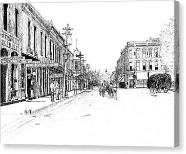 Arkansas Canvas Print - Bentonville Square 1914 by Ron Enderland