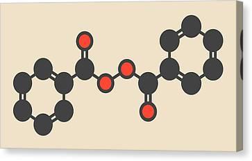 Benzoyl Peroxide Acne Drug Molecule Canvas Print by Molekuul
